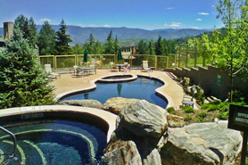 Outdoor Hot Tub and pool at Timberline Condos near Aspen and Snowmass, Colorado