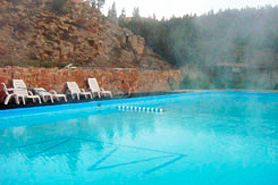 Relax in a hot spring at Wuanita Hot Springs Pool, Gunnison, Colorado, The Colorado Vacation Directory