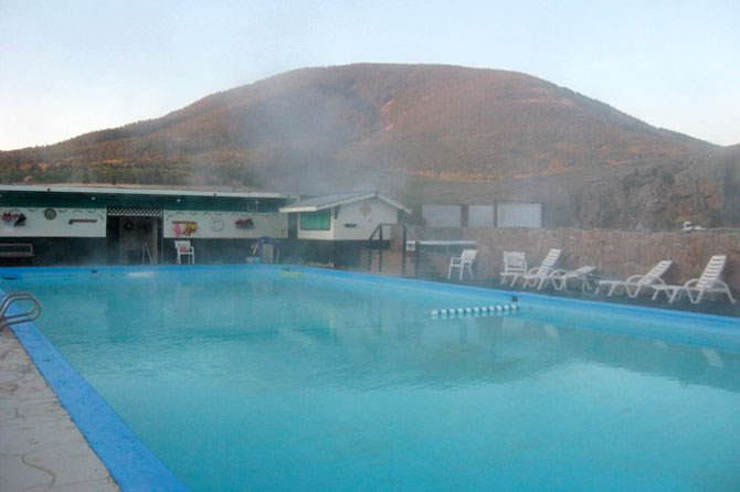 A pool at Waunita Hot Springs Ranch in Gunnison Colorado