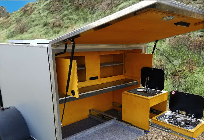 Into the Wild Expedition Rentals off road trailer with kitchen, The Colorado Vacation Directory