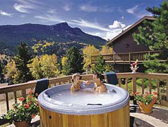 Hot Tub on the Deck at Wildwood Inn, Estes Park Colorado, The Colorado Vacation Directory